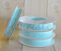 5 Yard Pre-Packaged Roll - Solid Fold Over Elastic - Pale Aqua