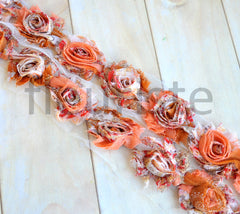 Petite Patterned Shabby Rose Trim-Harvest Breeze