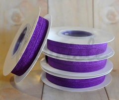 5 Yard Pre-Packaged Roll - Solid Fold Over Elastic - Plum