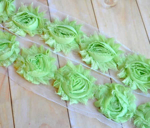 Solid Shabby Rose Trim-Key Lime