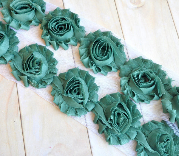Solid Shabby Rose Trim-Army Green