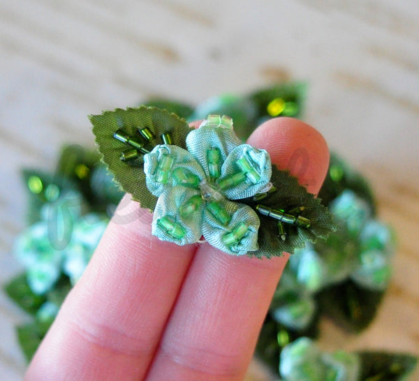 Teensy Beaded Vintage Flower - Pick Your Color