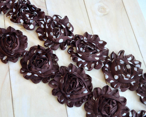 Patterned Shabby Trim-Chocolate Swiss Dots