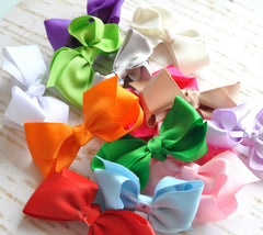 Medium Grosgrain Bows-Unfinished-Pick Your Color