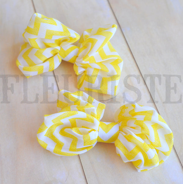 Chiffon Poof Bow-Chevrons-Pick Your Color