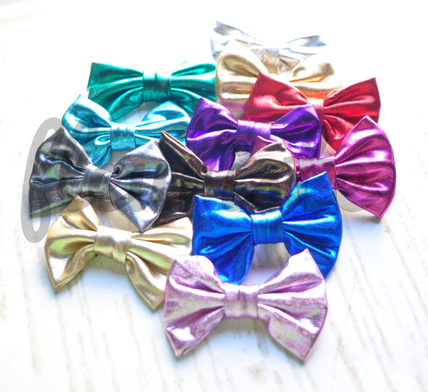 Soft Leather Mini Bows - Pick Your Color