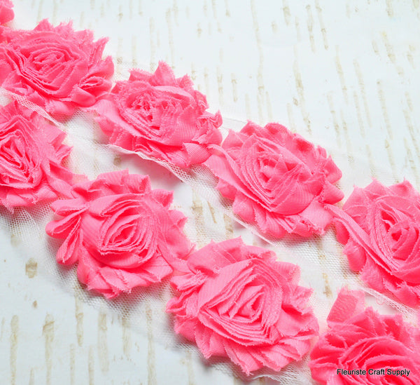 Solid Shabby Rose Trim -  Bubblegum