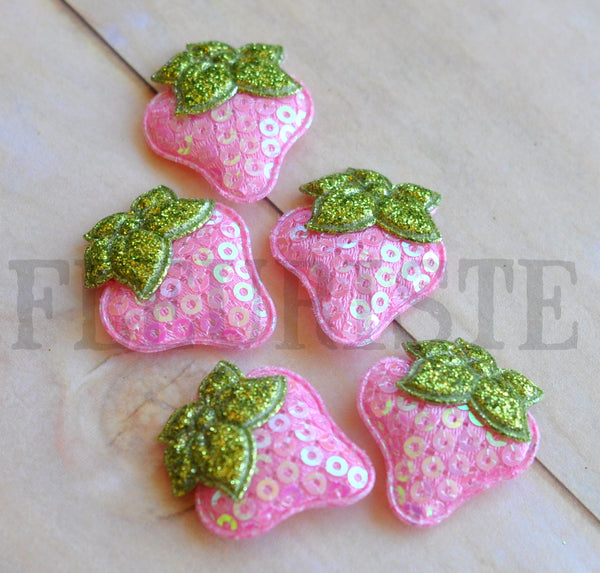 Padded Strawberry Appliques-Pick Your Color