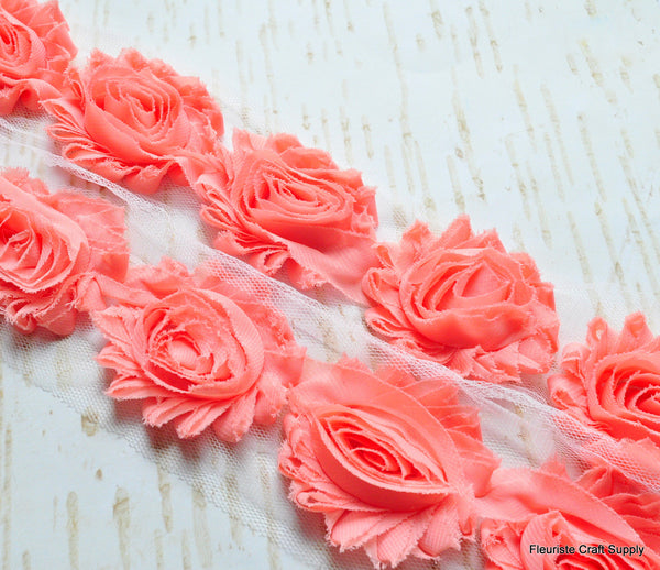 Solid Shabby Rose Trim -  Vintage Peach
