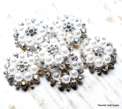 Vintage Flatbacks - Pearl and Jeweled