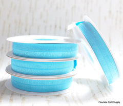 5 Yard Pre-Packaged Roll - Solid Fold Over Elastic - Turquoise