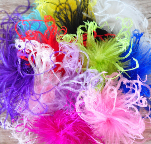 Curly Ostrich Puffs - Pick Your Color