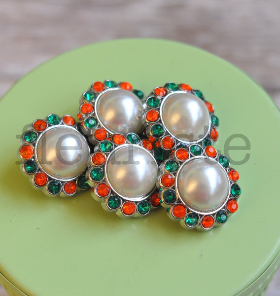 23mm Halloween Pearl Buttons - Pick from Three Colors