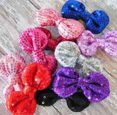 Sequined Poof Bows - Pick Your Color