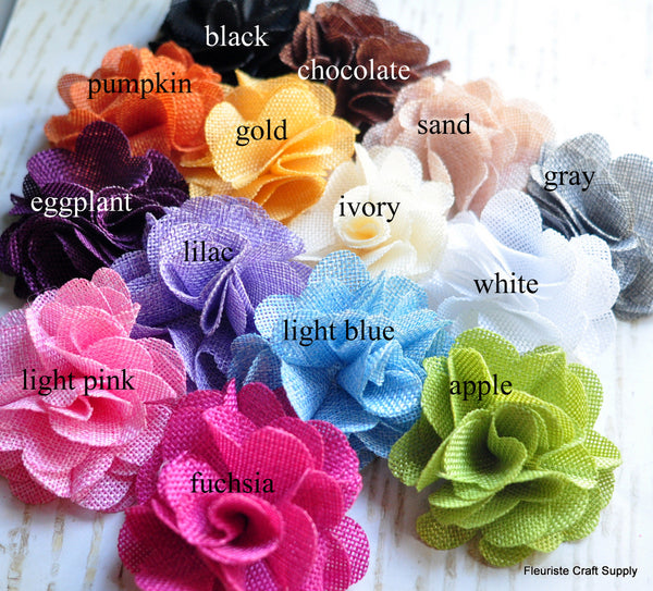 Burlap Poof Flowers - Pick Your Color