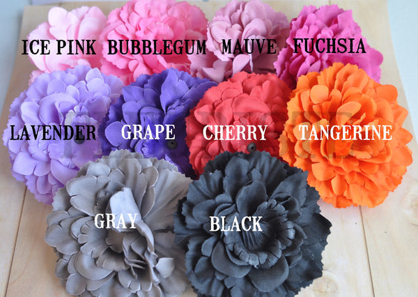 Ruffled Peony Flower-Pick Your Color