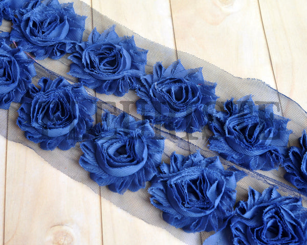 Solid Shabby Rose Trim- Light Navy