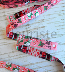 "Woven Ribbon-Single Yard-Sweet Christmas-5/8"" Width"