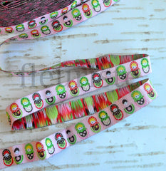 "Woven Ribbon-Single Yard-Nesting Dolls-5/8"" Width"