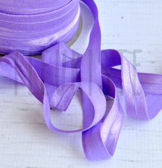 "Solid 5/8"" Foldover Elastic by the Yard-Lilac"