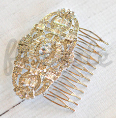 Bridal Comb - Ready to Wear - Art Deco Crowns