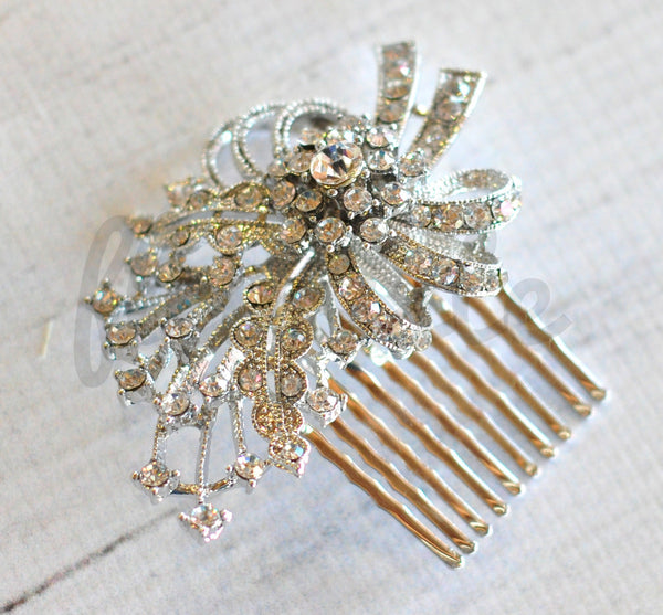 Bridal Comb - Ready to Wear - Bow with Starburst