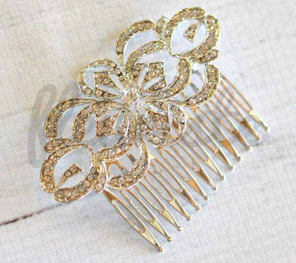 Bridal Comb - Ready to Wear - Marakech Swirl