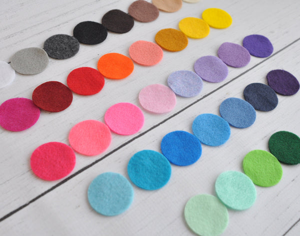"1.5"" Felt Circles-Pick Your Color"
