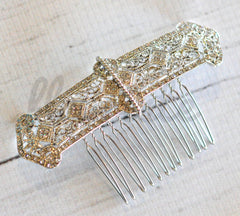 Bridal Comb - Ready to Wear - Art Deco Banner