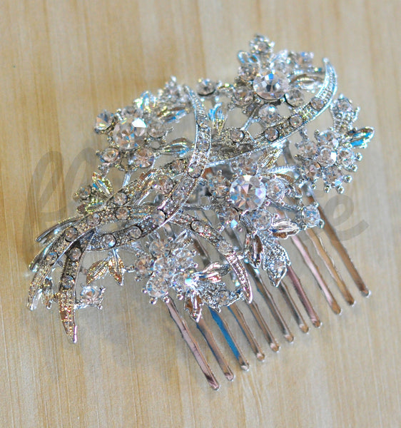Bridal Comb - Ready to Wear - Daisies & Sea Grass