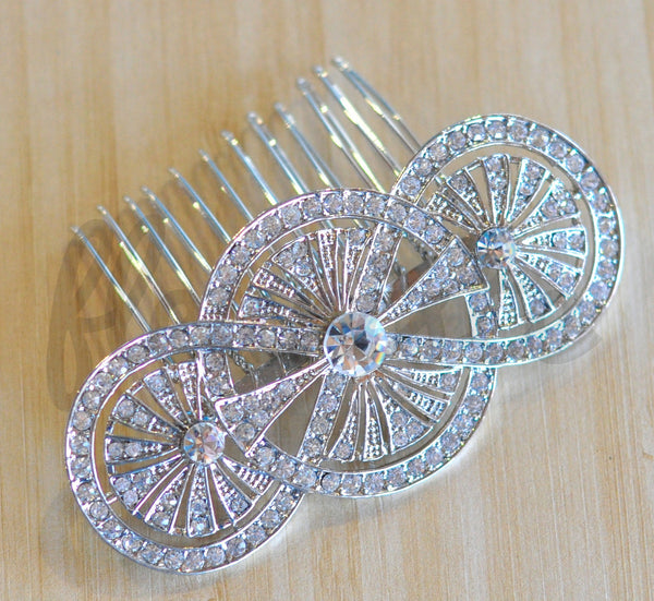 Bridal Comb - Ready to Wear - Deco Circles