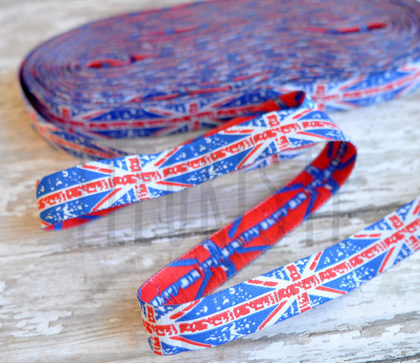 "Woven Ribbon-Single Yard-Union Jack-5/8"" Width"