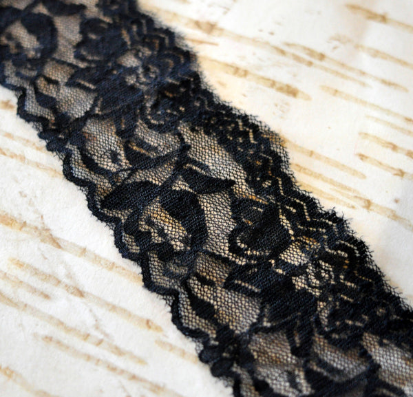 "2.25"" Lace Elastic by the Yard"