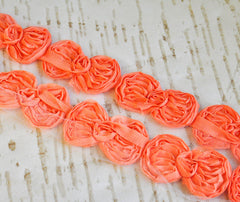 Mini Bow Trim-Peach