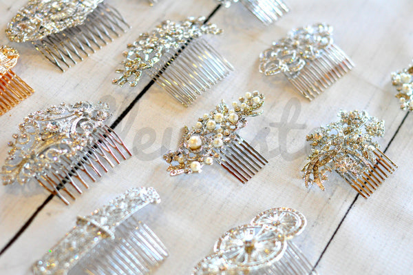 Bridal Comb - Ready to Wear - Art Deco Crowns in Gold
