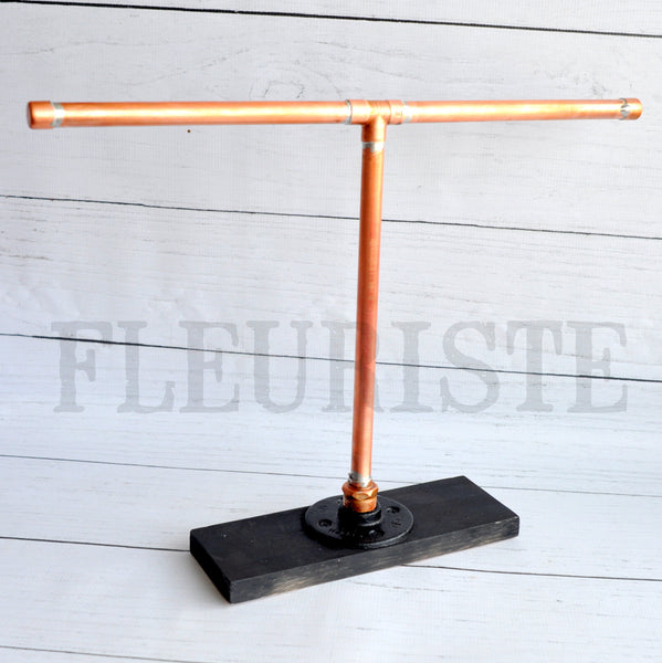 Industrial T Bar Display-Copper Pipe-Short Display Stand