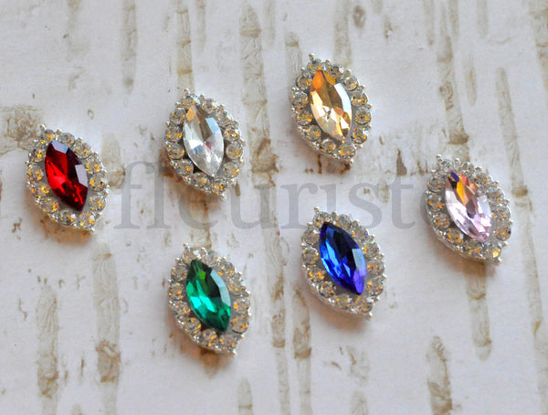 Marquis Cut Flatback Jewels - Pick Your Color