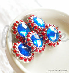 21mm Round Red & Blue Button