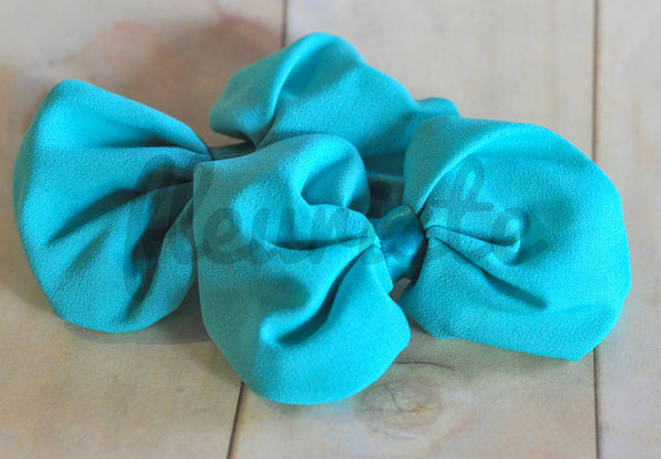 Chiffon Poof Bow-Solids-Pick Your Color
