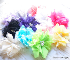 Lace Mini Tulle Flower - Pick Your Color