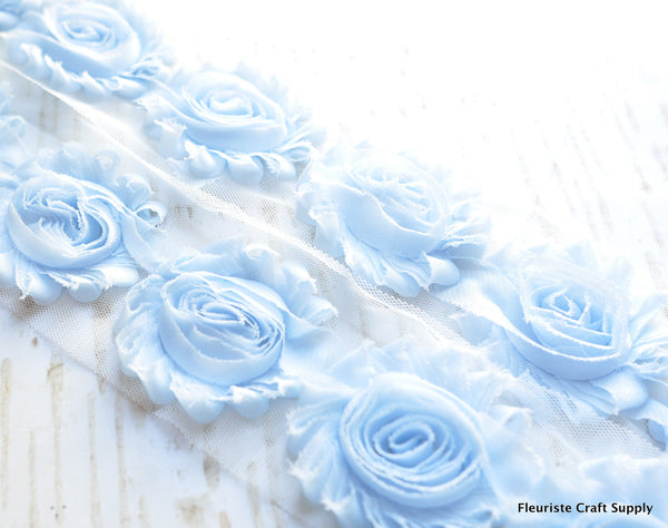 Solid Shabby Rose Trim - Palest Ice Blue