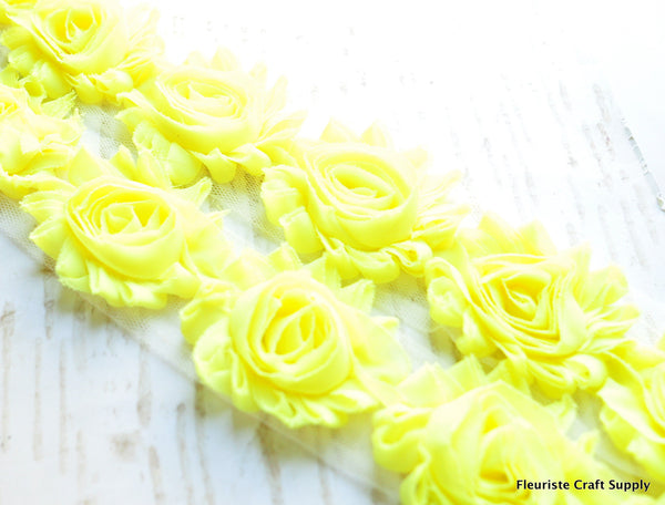 Solid Shabby Rose Trim - Super Hot Yellow