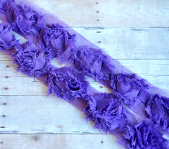 Petite Solid Shabby Rose Trim-Grape Purple