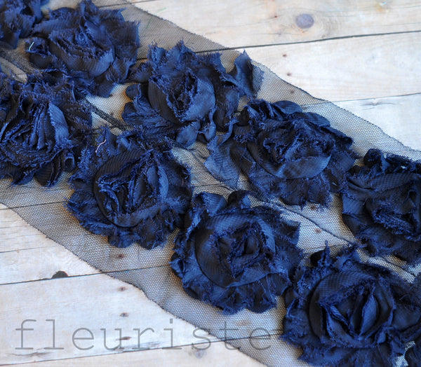 Solid Shabby Rose Trim- Dark Navy