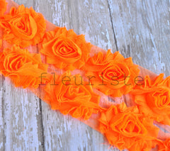 Solid Shabby Rose Trim-Neon Orange