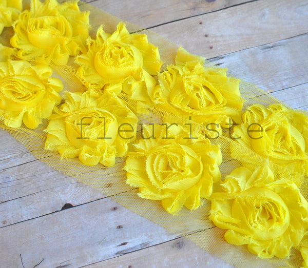 Solid Shabby Rose Trim-Bright Yellow