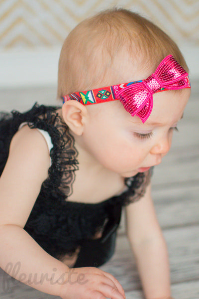 Medium Tuxedo Sequined Bows - Pick Your Color