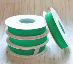 5 Yard Pre-Packaged Roll - Solid Fold Over Elastic - Emerald