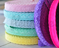 "3/4"" Lace Elastic by the Yard - Pick Your Color"