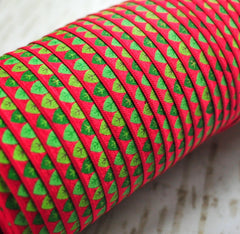 "Christmas Fold Over Elastic-5/8"" Width-Modern Trees"